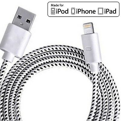 Strong Lightning Duty Braided 2M USB Charger Cable For iPhone 6 6S 7 8 X IPad
