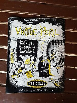 Vintage Virtue In Peril Dinner  Theatre  Programme Signed