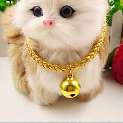 Pet Leash Collar With Big Bell Colorful Ethnic Kitten Puppy Necklace for Cat Dog