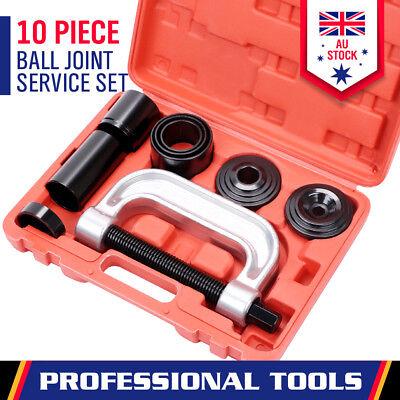10-Piece Ball Joint Press Kit Remover Service Anchor Pin C Adapter Auto Tool Set