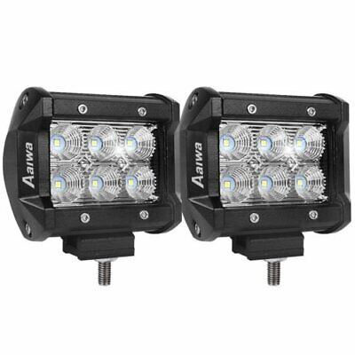 2x 4inch CREE LED Work Light Bar FLOOD Beam Offroad 4WD Fog Reverse Driving Lamp
