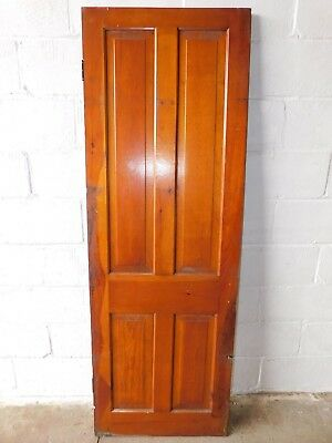 1890's Wooden CABINET DOOR Butlers Pantry VICTORIAN Four Panel Cypress ORNATE