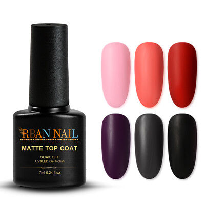RBAN NAIL Super Matte Transfiguration Nail Polish Top Coat Frosted Surface Oil