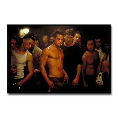 Fight Club Hot Movie Art Silk Poster Canvas Print 12x18 24x36 inch