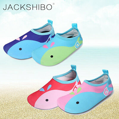 Boys Girls Swim Water Beach Surf Aqua Socks Shoes Kids Skin Slip Pool Yoga Soft