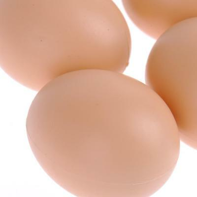 5Pcs Fake Chicken Egg Dummy Egg Help Hens Prolific laying egg nest box or clutch