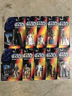 Star Wars Power Of The Force Red Card Lot