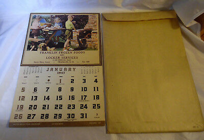 1947 Calendar Franklin Frozen Foods NH    NOS