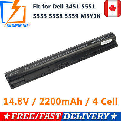 New M5Y1K Battery For Dell Inspiron 3451 5451 5551 5555 5558 5559 5755 5758 p