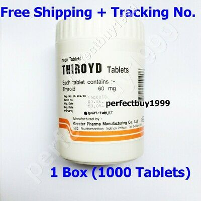 1000Tablets x60mg THIROYD Genuine NDT Natural Desiccated THYROID Extract GREATER