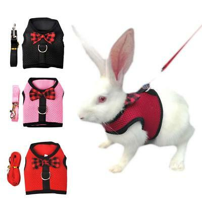 Small Animal Vest Clothes Lead Harness Guinea Pig Forret Hamster Rabbit Squirrel