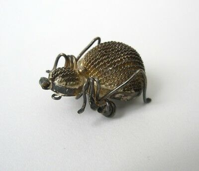 Small OLD Antique Victorian Silver Mesh SPIDER Pin/Brooch/Pendant?, Vintage