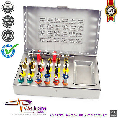 Basic Dental Implant Universal Bone Expander Kits Compression Conical Drills CE