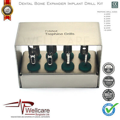 Implant Drills Kit Trephines Expander Trimmer Bone Grafting Surgery Bur holders
