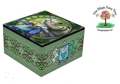 Anne Stokes Realm of Enchantment - 10cm x 10cm mirror box