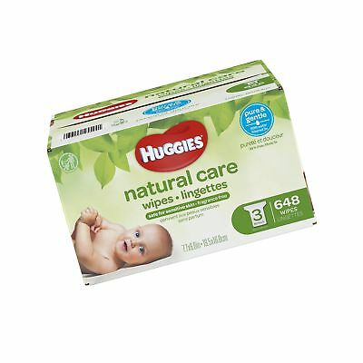 Huggies Natural Care Unscented Baby Wipes, Sensitive, Hypoallergenic, Water-B...