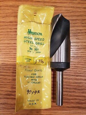 New Old Stock Silver and Deming Ace Hanson Drill bits larger diameter