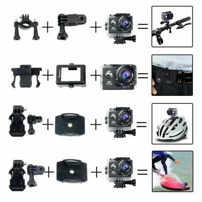 YaeCCC 19pcs HD 12MP 4K WiFi Waterproof Sports Action Camera with 2'' LCD Screen