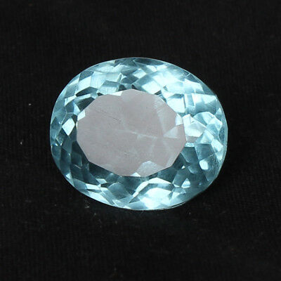 21.60 Ct Natural Aquamarine Greenish Blue Color Oval Cut Loose Certified Gem