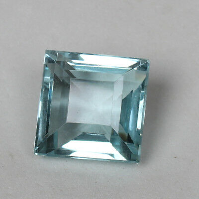 23.20 Ct Natural Aquamarine Greenish Blue Color Square Cut Loose Certified Gem