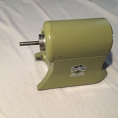 Vintage Champion Juicer Motor 1/3hp No Power Cord  Tested Good  Made In USA