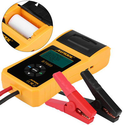 12V Load Battery Tester Digital Car Battery Analyzer with Printer Multi Language