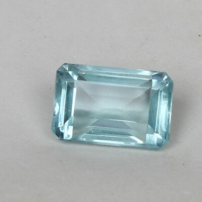 27.30 Ct Natural Aquamarine Greenish Blue Color Octagon Cut Loose Certified Gem