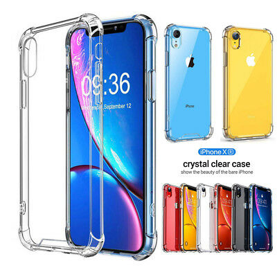 Transparent Soft Silicone Shockproof Phone Case Cover For iPhone XS Max X 8 7 6s