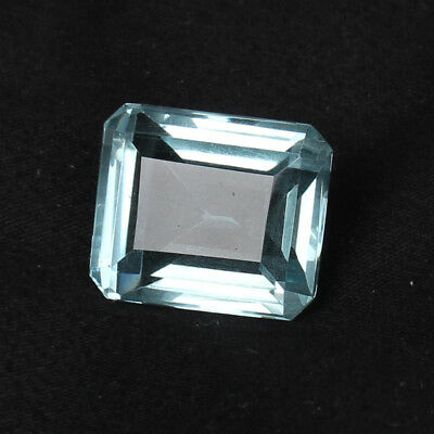 23.35 Ct Natural Aquamarine Greenish Blue Color Octagon Cut Loose Certified Gem