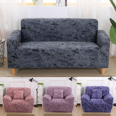 1 2 3 Seater Elastic Cotton Sofa Cover Lounge Couch Removable Slipcover Washable