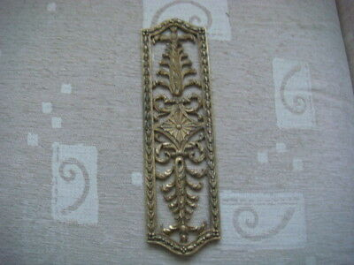 antique door plate ornate finger plate s .934