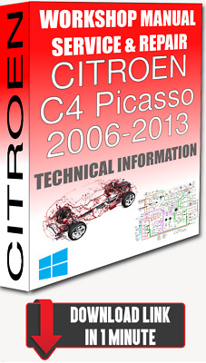Service Workshop Manual & Repair CITROEN C4 PICASSO 2006-2013 +WIRING| DOWNLOAD