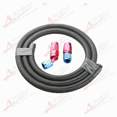 NYLON cover braided -10 AN10 Oil Fuel Gas Line Hose 1M + Swivel Hose End Fitting