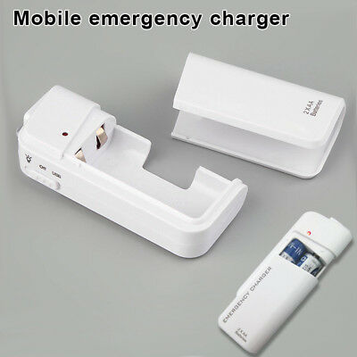 Universal USB Emergency 2 AA Battery Extender Charger Power Bank Supply Box
