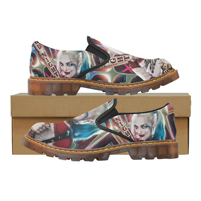 Custom Womens Slip On Loafer Suicide Squad Shoes Comfy Ladies Casual Flats