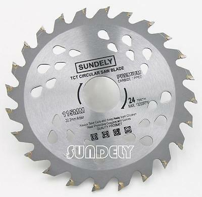 NEW! 115mm Angle Grinder saw blade for wood and plastic 24 TCT Teeth
