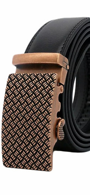 Mens Designer Belts For Men Automatic Belt Luxury Bronze Silver Buckle Leather