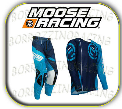 Completo Cross Moose Racing Blu / Giallo Taglia L/Xl 32/36