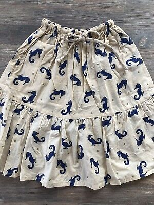 Bella & Lace Long Skirt Seahorse Print Girls Size 5 Perfect Condition