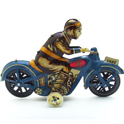 Iron Wind Up Toys Motor Bike Model Clockwork Classic Tin Toy Christmas Present