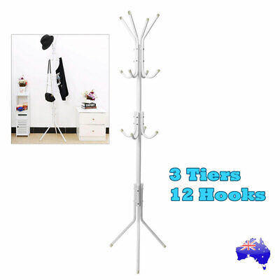 Metal Coat Stand Rack Clothes Hanger Hat Tree Vintage Jacket Bag Umbrella Hook