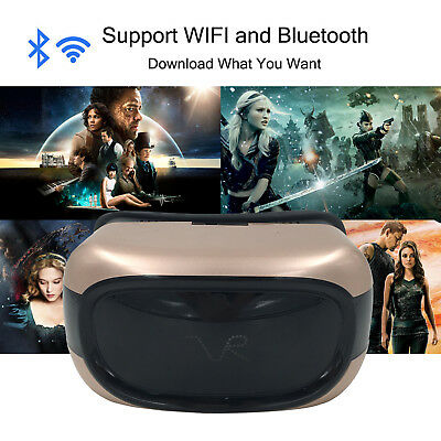 Android OS Virtual Reality Movie Glasses VR Gaming Headset With Remote 8GB 720P