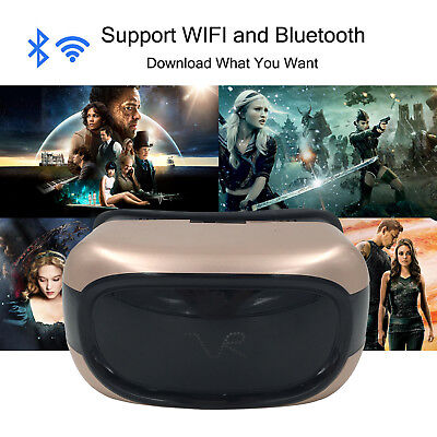 Virtual Reality Game Headset VR Movie Glasses Android OS Inside With Remote 720P