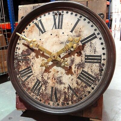 Large Antique Clock Dial (working) Beautifully Distressed Roman Numerals
