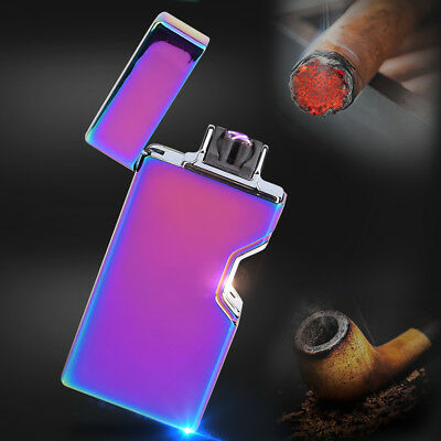 Dual Arc Electric USB Rechargeable Windproof Flameless Lighter Cigarette Lighter