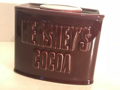 Hershey's Cocoa Ceramic Box Container Hot Chocolate Decorative