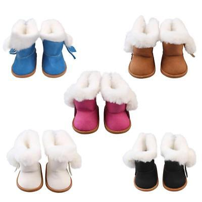 Cute Fashion Boots Shoes Clothes  For 18 Inch Lovely Doll Plush Velvet Shoe