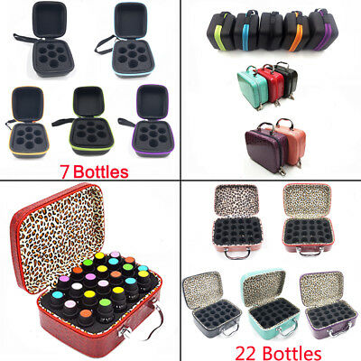 22 Bottle Essential Oil Carry Case 5ML~15ML Holder Storage Aromatherapy Hand Bag