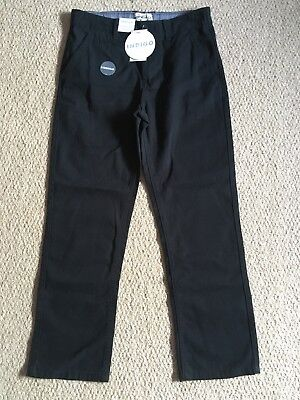 M&S INDIGO boys black Stormwear chinos/trousers age 9 BNWT NEW