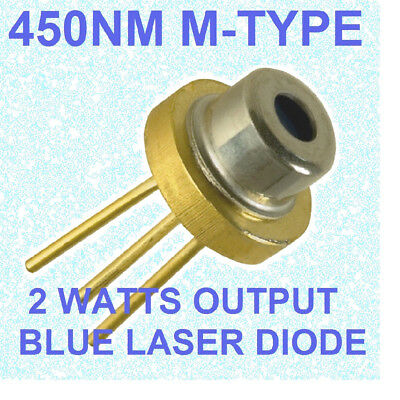 USED 2w blue laser diode nichia m140 M-type 445nm 450nm  blue beam laser diode